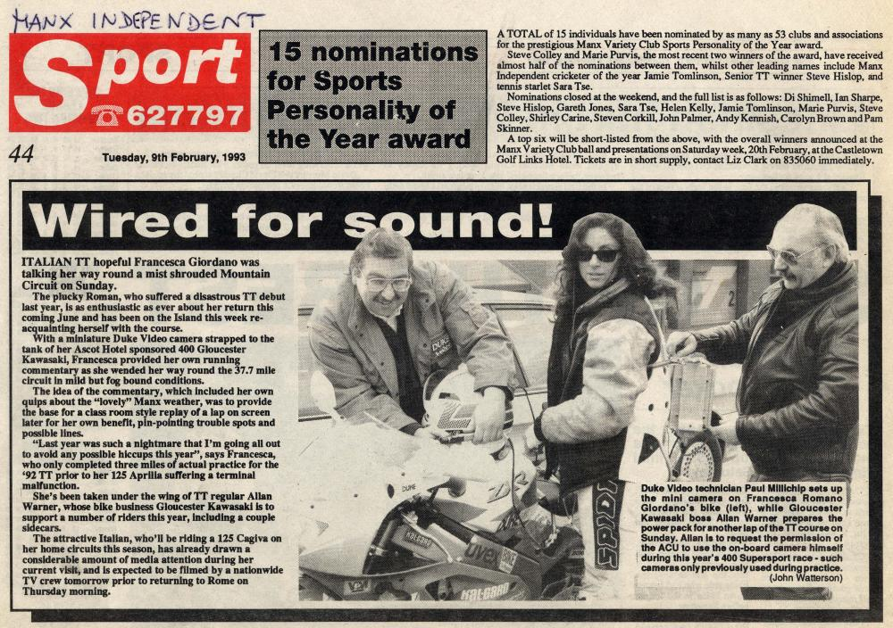 Wired For Sound - Manx Independent - 9 February 1993