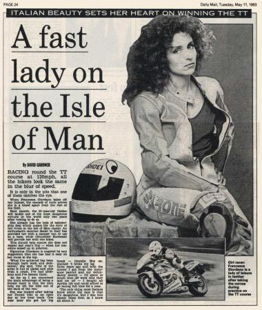 A Fast Lady on the Isle of Man