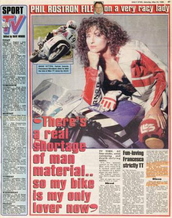 Phil Rostron File on a very racy lady